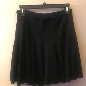 ASTR Ponte Knit Black Pleated Skirt Size M